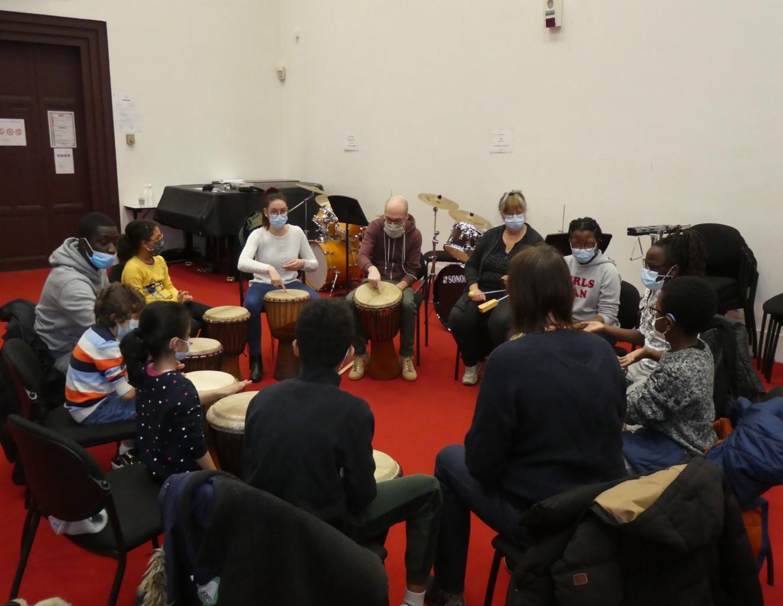 Photo de groupe percussion 2
