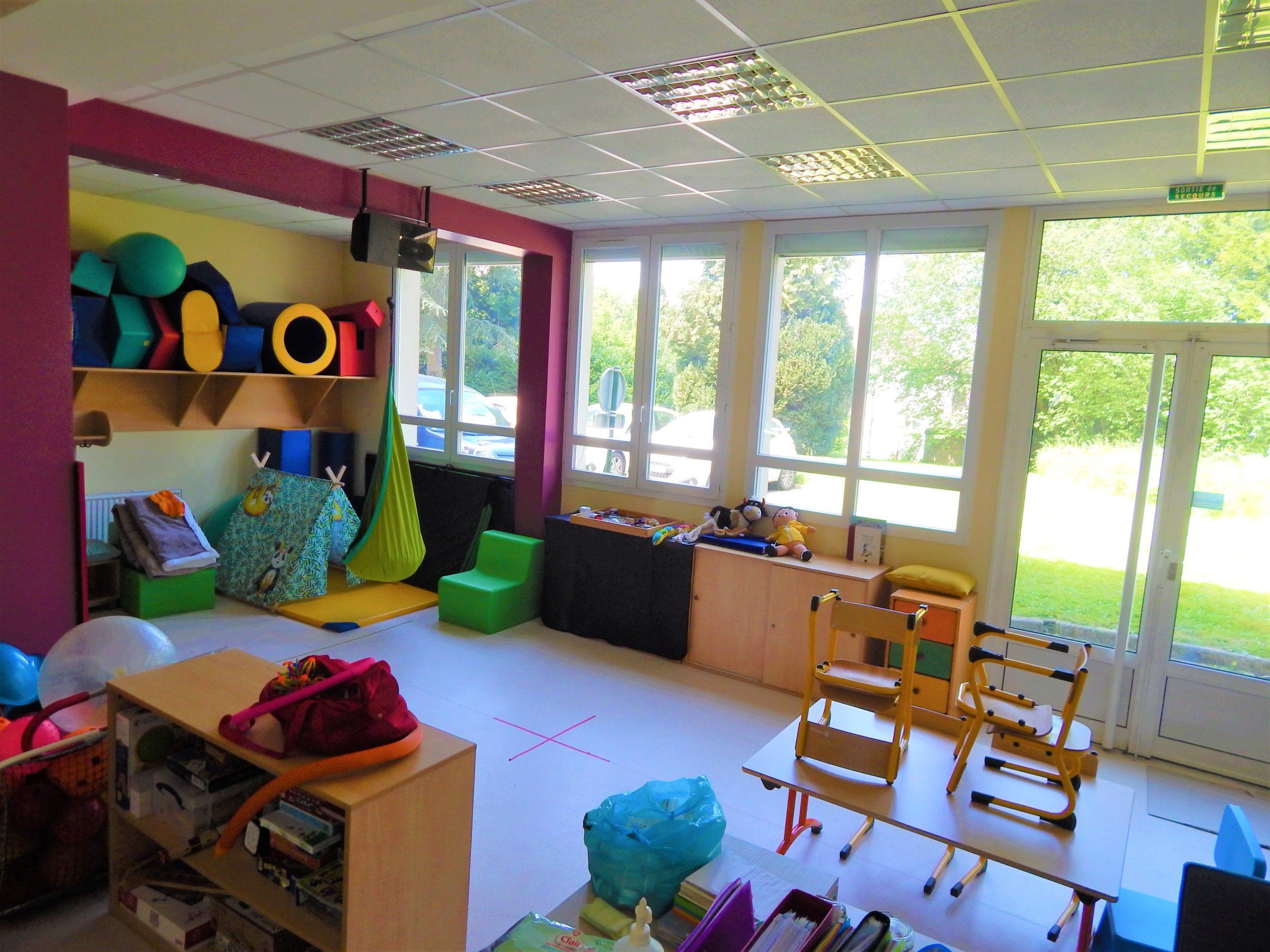 Salle de psychomotricité du SAIDV